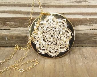 Gold Mandala Necklace