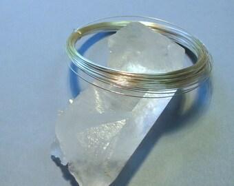 Sterling Silver Wire - 22 Gauge - HALF ROUND - Half-Hard - 10 Feet