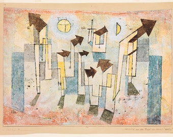 Paul Klee: Mural from the Temple of Longing Thither. Fine Art Print/Poster (5028)