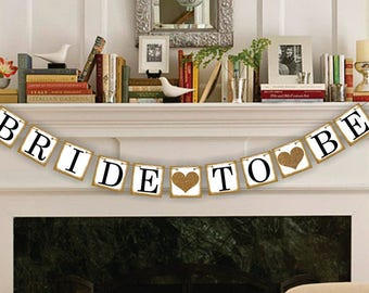 Bridal Shower Decor - Bride-To-Be Banner - Bachelorette Party - Wedding Banners