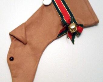 Greyhound Christmas Stocking Tan/Fawn