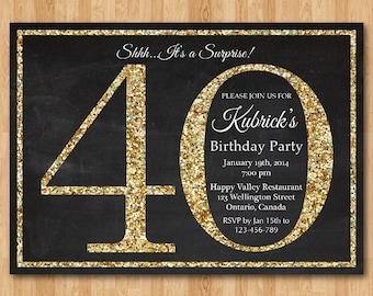 70th birthday invitation silver glitter birthday party 40th birthday invitation gold glitter birthday party invite adult surprise birthday elegant printable digital diy filmwisefo