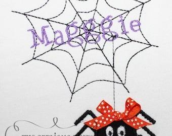 Halloween Spider Web Frame Digital Embroidery Design Machine Applique