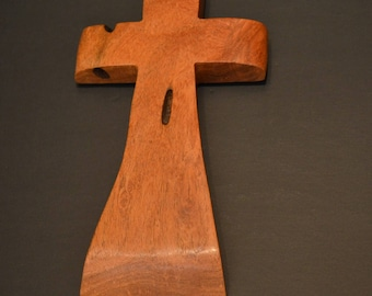 "Wood Cross; Christian Gift; Home Decor; Wood Gifts; Wedding Gift; Sympathy Gift; Mesquite 5""x9""x1""; Free Ground Shipping USA; cc20-1040116"