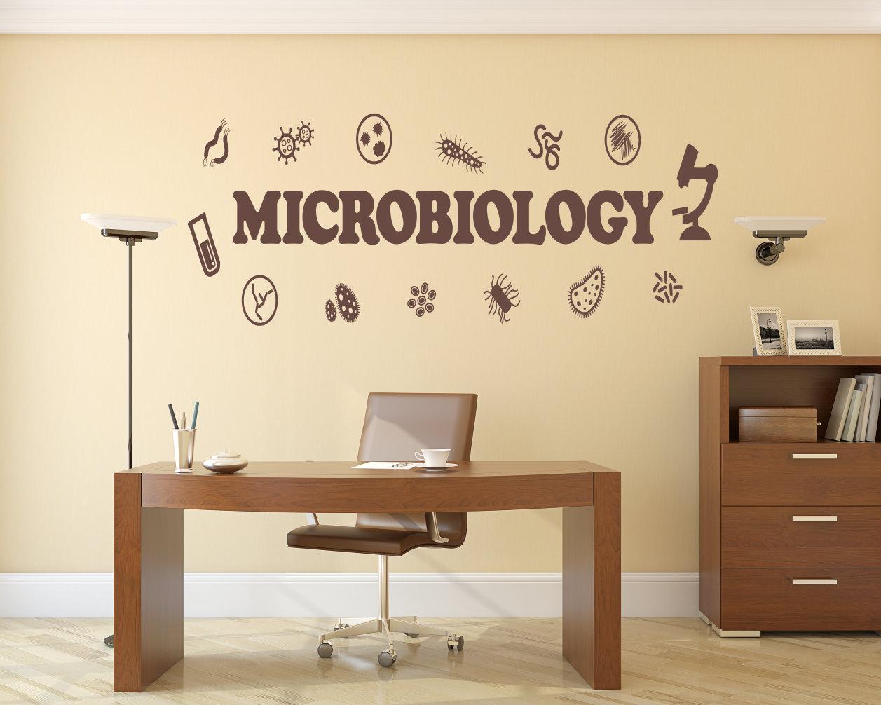 Microbiology decor, microbiology decal, Microbiology wall art ...