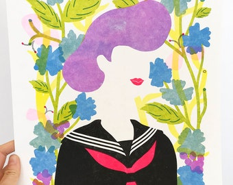 Bad Girl - Sukeban Riso Print