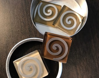 Glass Magnets - Spirals