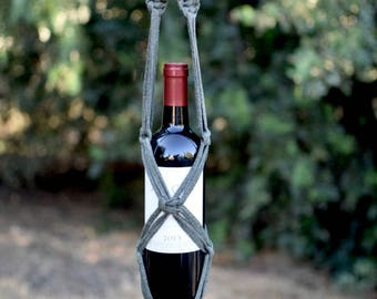 Macrame Wine Bottle Carrier/ Bottle Holder