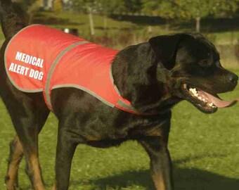 Medical Alert Dog Printed High Vis Hi Viz Dog Pet Roadside Safety Vest Reflective Coat Tumblr Pintrest Trends