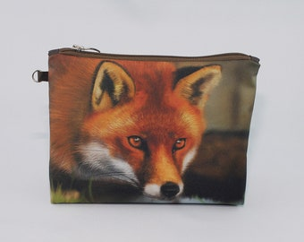 Red Fox Cosmetic Bag Travel Pouch Make Up Bag Toiletry Travel Zipper Pouch Cosmetic Bag Cosmetic Case