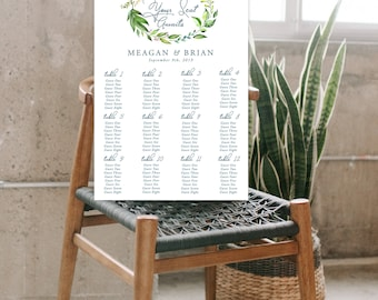 Seating Chart - Breezy Leaf (Style 13701)