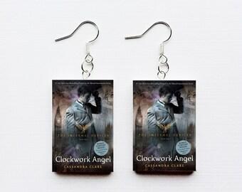Clockwork Angel mini book earrings