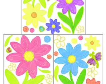 Flower Decals for Girls Room Walls