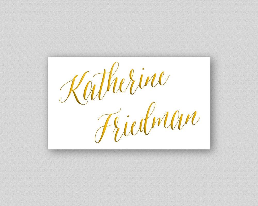 Druckbare Vorlage Tischkarte Gold Tischkarten Hochzeit