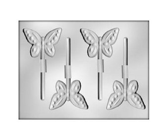 Butterfly Chocolate Mold, Butterfly Lollipop Mold, Chocolate Candy Mold, Butterfly Candy Mold