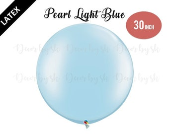 30 Inch Giant Balloons, PEARL LIGHT BLUE, Wedding, Graduation, Birthday, Baby Shower, Bridal Shower, Engagement, Photo prop