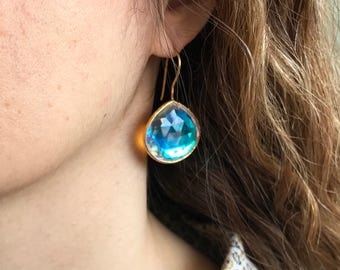 topaz kavels earrings catawiki mystic