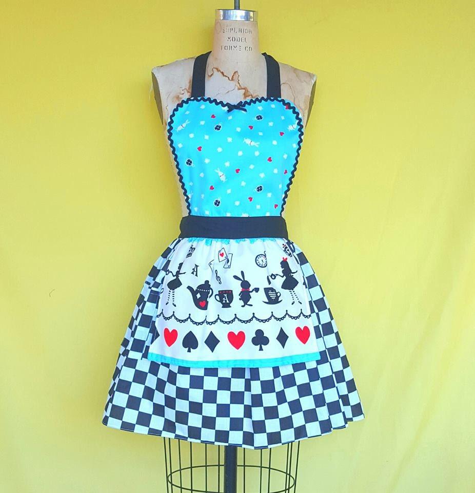ALICE in WONDERLAND apron Alice in Wonderland dress up