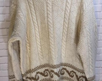 Vintage Wool Ski Sweater Made in Uruguay L XL