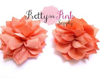 Peach Kanzashi Flower- You Choose Quantity- DIY Headband Supplies- Flower- Wholesale- By the Piece- Supply Shop- Applique