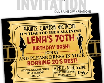 1920s invitations etsy 773 diy roaring 1920s flapper 2 party invitation or thank you card filmwisefo