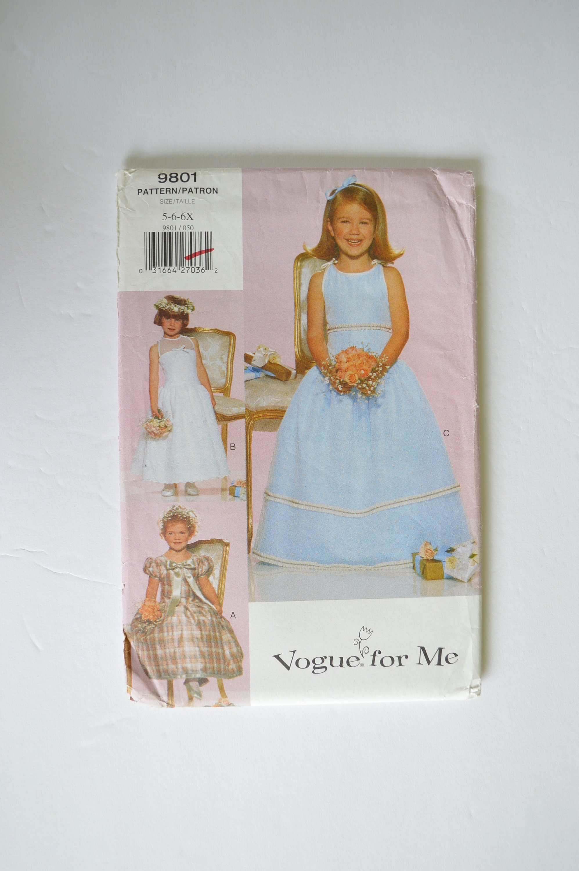 f86606dc299 1990s UNCUT Vogue For Me Sewing Pattern 9801 Childrens Girls