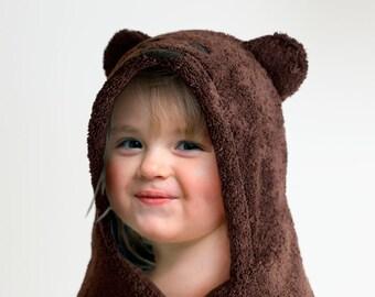 Hooded Towel / Bear / Hooded Bath Towel / Brown Bear / Animal Hooded Towel / Personalized / Baby Gift / Baby / Toddler