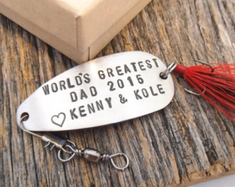 First Father's Day Gift for Dad from Children Fishing Lure for Husband Fathers Day Gift from Kids Gift from Son Father's Day from Daughter