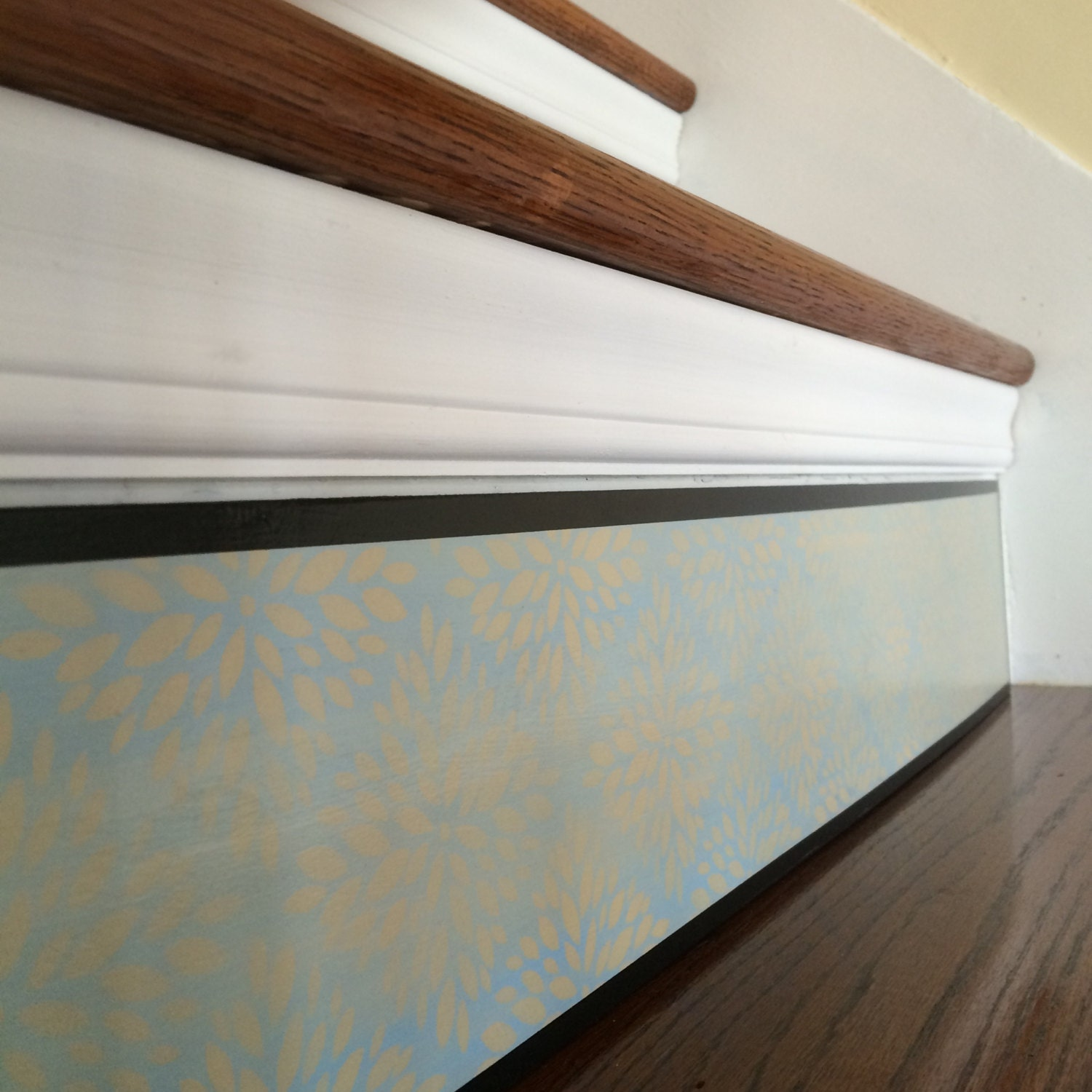Floral Stair Riser Alternative to Vinyl Decals and Stair