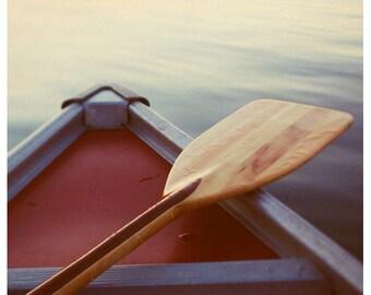 Nature Photography - Beach Photograph - Canoe Art - Paddle - Michigan Print - Great Lakes - Fine Art - At Rest - Boat Art - Oversized Print