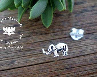 Elephant Studs Sterling silver Elephant Lovers Elephant gift Novelty studs  Minimalist gift Small Elephant earrings Post elephant earrings