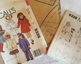 Mccalls 9328 Coat Jacket Muff Cape Pants  Uncut Vintage Sewing Pattern  GRTODPAT