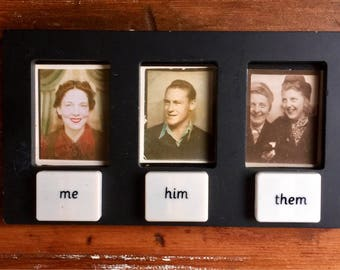 Upcycled Recycled Repurposed Reused Picture Frame for Three Photographs