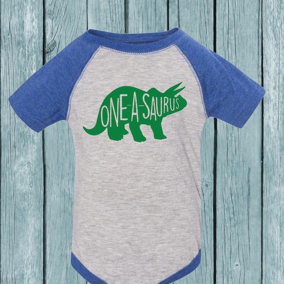 One A Saurus Birthday Shirt Birthday Bodysuit Or T Shirt