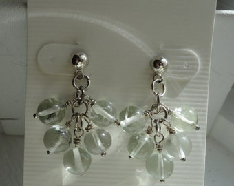 Green Amethyst Earrings  -   #330