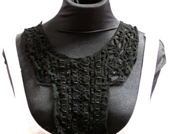Black Lacy Collar Insert - JR09274