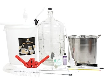 Brewcraft Deluxe Homebrew Equipment Starter Kit ‑ Make Your Own Beer