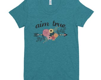 Aim True - Ladies Triblend Tee - 4 Color Choices