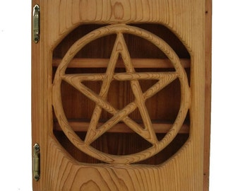 Pentacle Altar Box-Protection, Ritual Tool, Wiccan Pagan Altar Cabinet