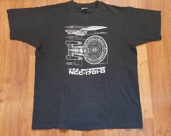 Vintage 1993 Star Trek Shirt, USS Enterprise Shirt, Size XL