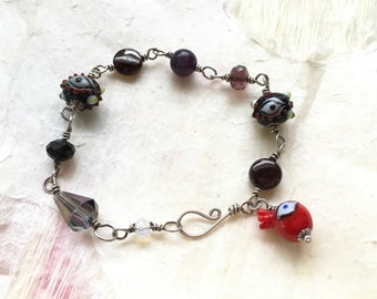 Random Fun Stuff Bracelet with Eye Beads