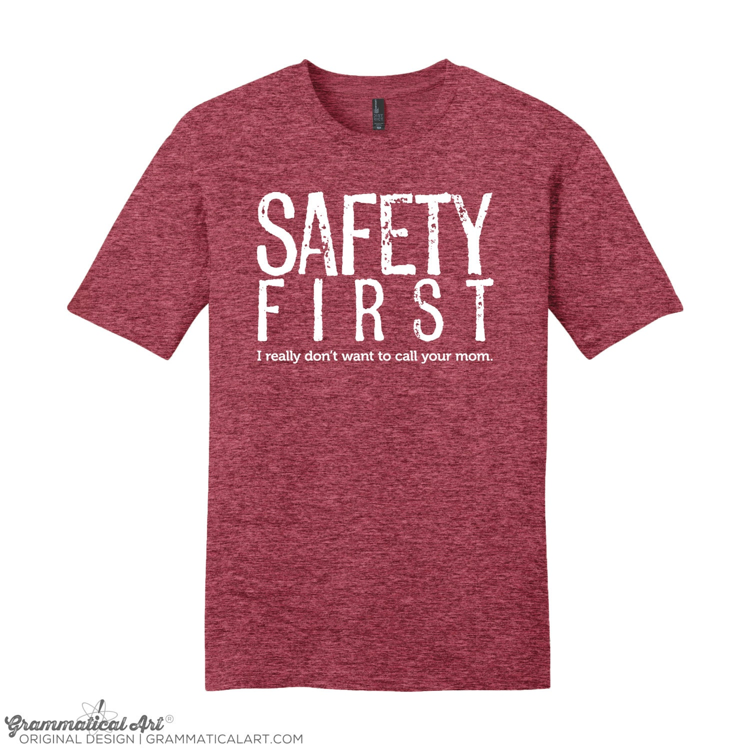 Men's Shirt Safety First Science Teacher Gift Funny
