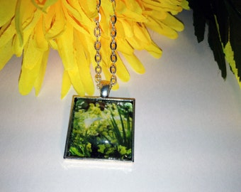 Calla Lily Nature Photo Silver Pendant Necklace