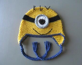 Gehaakte Minion kind hoed