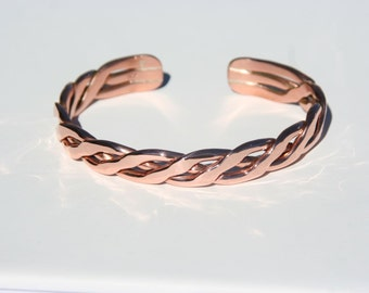 Copper Braid Cuff Bracelet