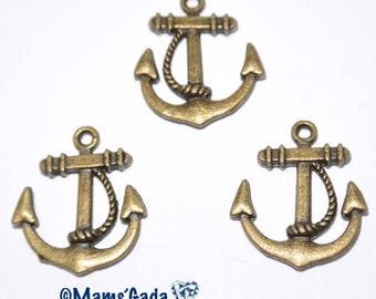 Anchor Navy 22x20mm bronze 6 units REF: B/03