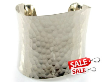 Silver Cuff Bracelet Silver Bracelet Cuff Brass Cuff Bracelet Brass Bracelet Cuff Wide Cuff Bracelet Silver Hammered Bracelet Cuff 002