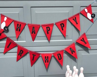 Bowling Party Birthday Banner