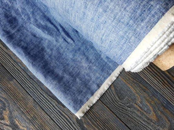 lav lin tissu denim m tre tissu de tissu au m tre lin lin. Black Bedroom Furniture Sets. Home Design Ideas