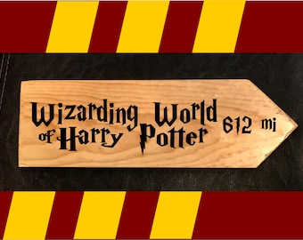 Custom sign to YOUR favorite Wizarding Place